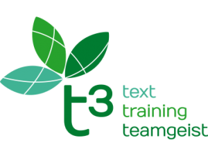 t3 – text. training. teamgeist.
